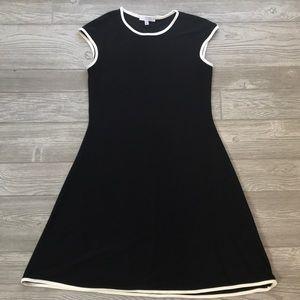 Black and white semi shift dress